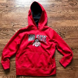 Other - Boys Ohio State red hooded sweatshirt size 4